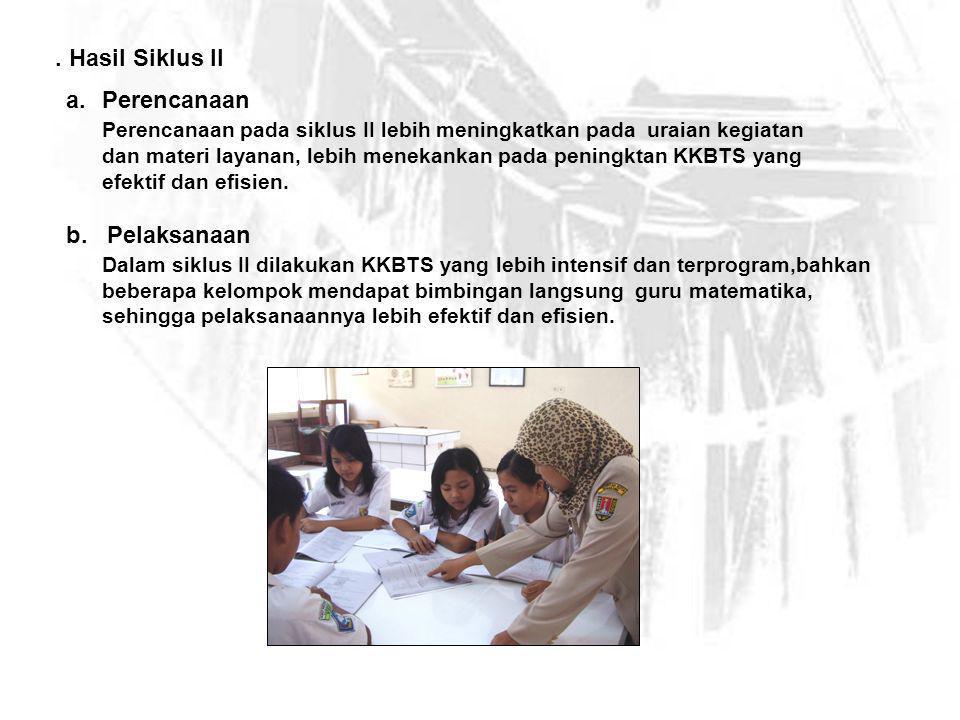 c.Observasi Observasi dilakukan pada waktu KKBTS atau proses pembelajaran berlangsung.