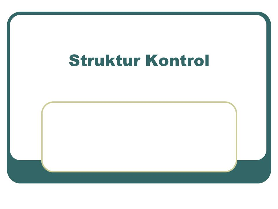 Struktur Kontrol