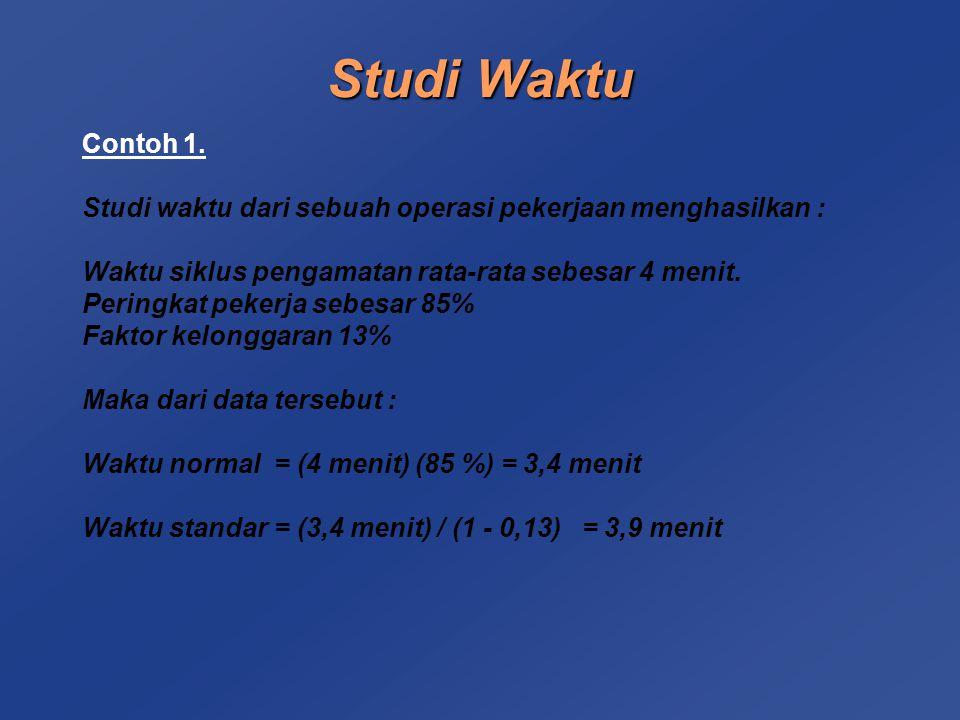 Studi Waktu Contoh 1.