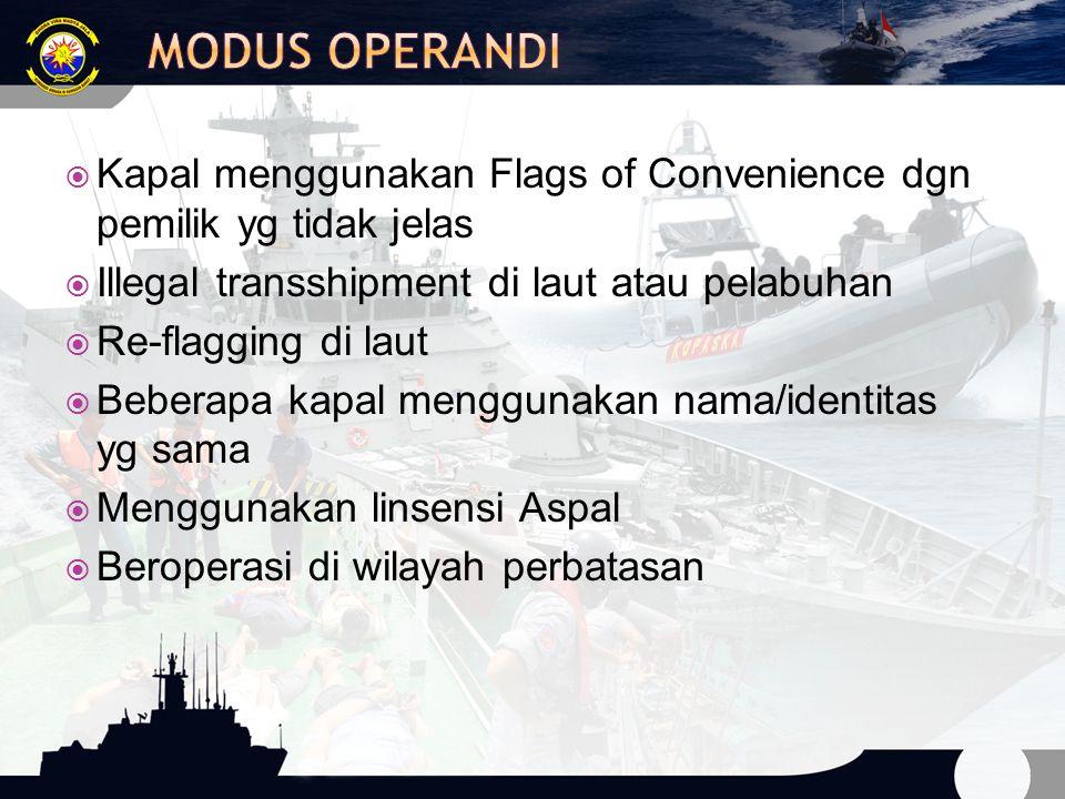  IUU Fishing terdiri dari :  Illegal Fishing  Un-regulated Fishing  Unreported Fishing
