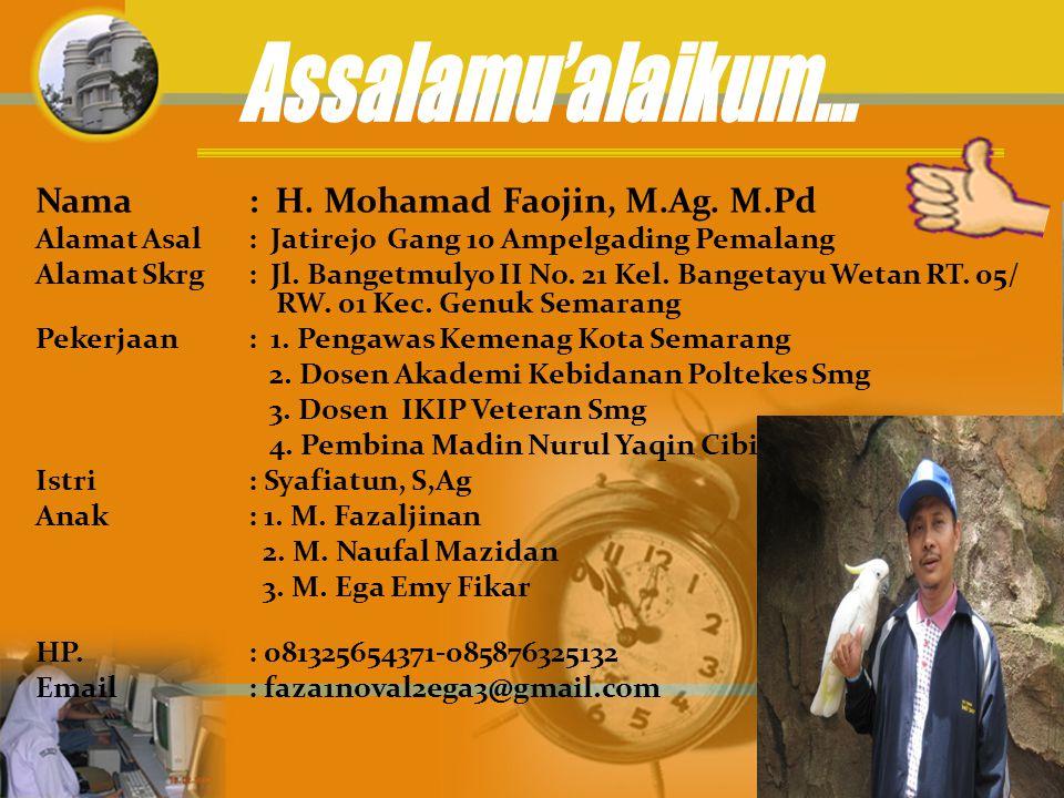 1.Guru MIN Kedungwaru lor Demak 2.Guru MTs Nahdlatus Syubban Sayung Demak 3.Staf Humas Kanwil Depag Prov.