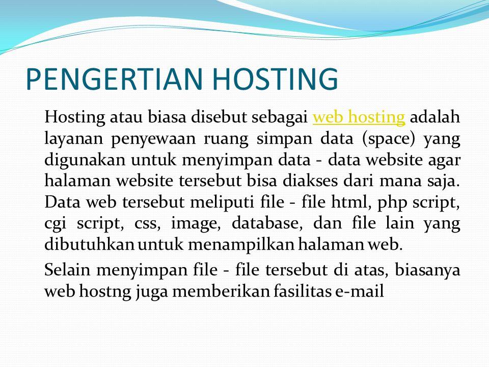 MEMILIH DOMAIN Kebanyakan nama domain yang ada saat ini telah dimiliki orang, jadi anda benar-benar harus memilih nama domain yang unik.