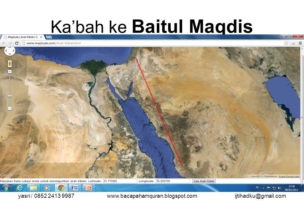 yasri / 0852 2413 9987www.bacapahamquran.blogspot.comijtihadku@gmail.com Ka'bah ke Baitul Maqdis Kiblat\aqsa.bmp