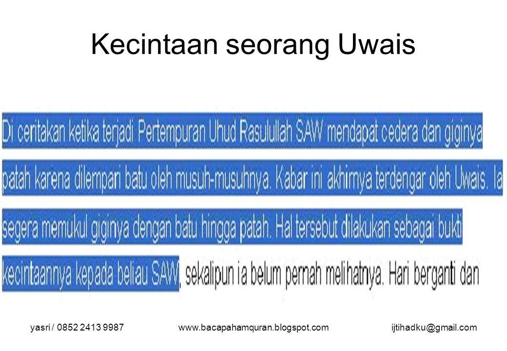 yasri / 0852 2413 9987www.bacapahamquran.blogspot.comijtihadku@gmail.com Pengantar Shalat adalah kewajiban bagi setiap Muslim yang telah memenuhi syarat.
