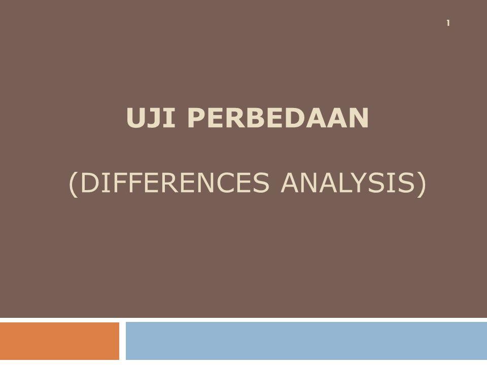 UJI PERBEDAAN (DIFFERENCES ANALYSIS) 1