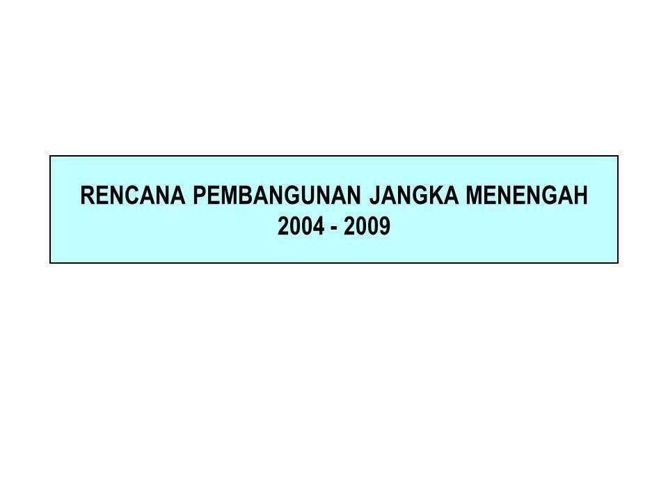 RENCANA PEMBANGUNAN JANGKA MENENGAH 2004 - 2009