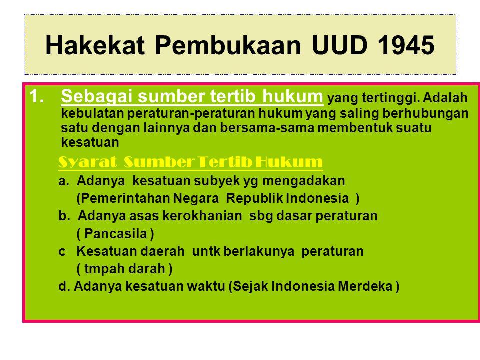 Hakekat Pembukaan UUD 1945 2.