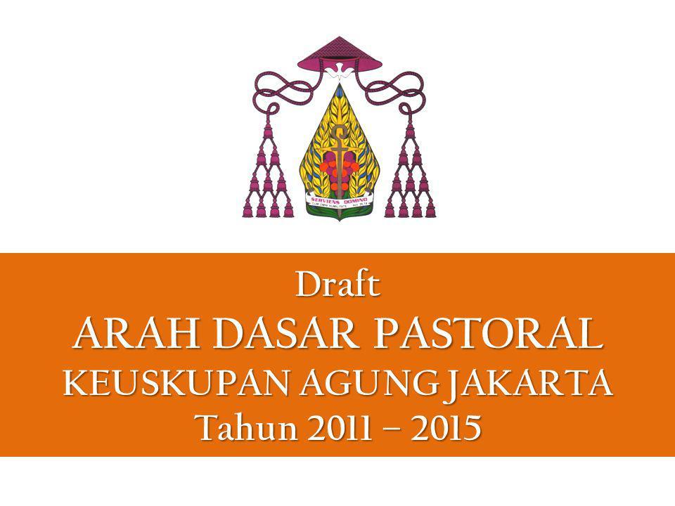 VISI Gereja Keuskupan Agung Jakarta bercita-cita menjadi Umat Allah yang atas dorongan Roh Kudus mewujudkan iman kepada Yesus Kristus, membangun persaudaraan sejati, dan terlibat dalam pelayanan kasih di tengah masyarakat.