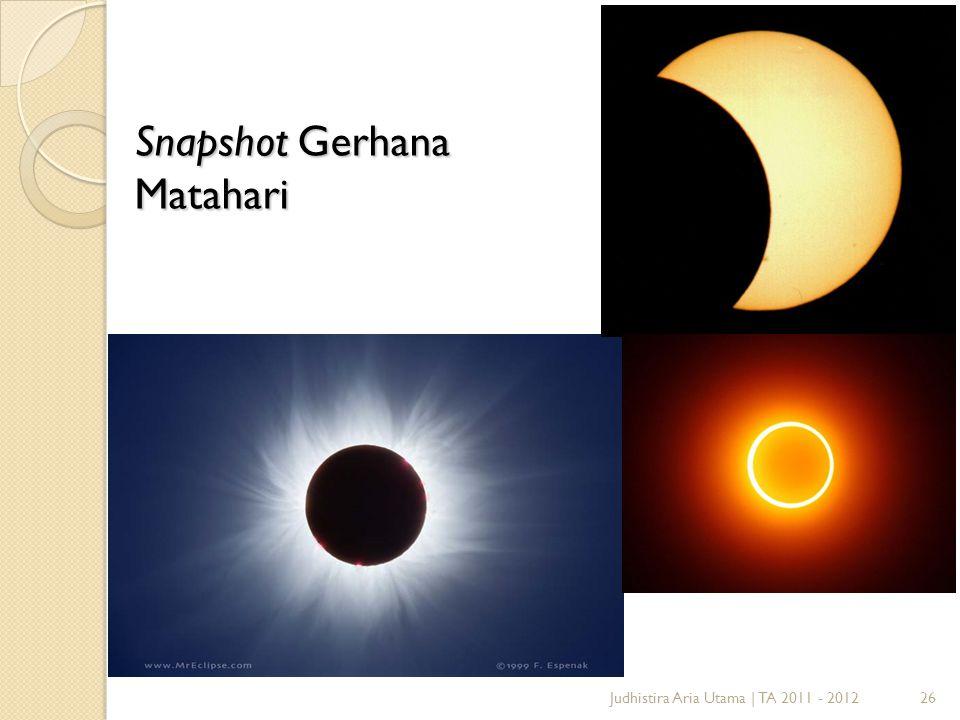 26Judhistira Aria Utama | TA 2011 - 2012 Snapshot Gerhana Matahari