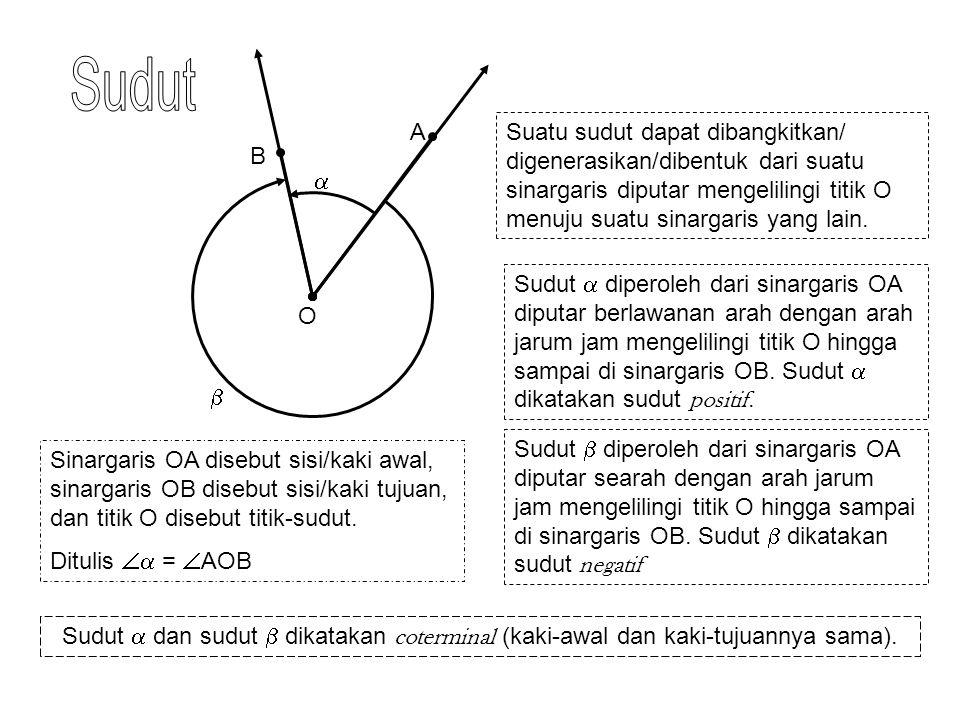   ' '' Dalam trigonometri, banyak putaran dan arah putaran tidak dibatasi.
