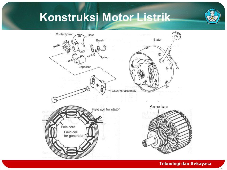 Teknologi dan Rekayasa Konstruksi Motor Listrik Armature