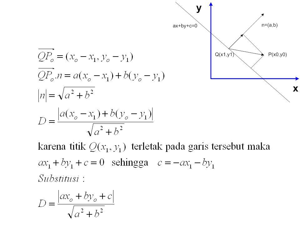 SOAL Vector Misalkan u = (1,2,3) v = (2,-3,1) w = (3,2,-1) carilah komponen vektor x yang memenuhi : 2u – v + x = 7x + w Misalkan u,v,w adalah vektor seperti soal 1, carilah skalar c1, c2 dan c3 sehingga : c 1 u + c 2 v + c 3 w = (6,14,-2) Hitunglah jarak antara P1(8,-4,2) dan P2 (-6,-1,0) Carilah semua skalar sehingga dimana v = (1,2,4)