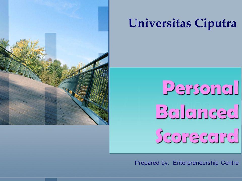 Universitas Ciputra Prepared by: Enterpreneurship Centre Personal Balanced Scorecard