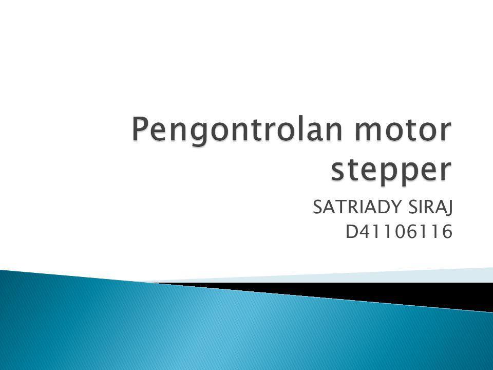 komutasi setiap lilitan harus di kontrol secara eksternal sehingga motor stepper ini dapat dikontrol sehingga dapat berhenti pada posisi yang diinginkan atau bahkan berputar ke arah yang berlawanan Pada bagaian ini akan dibahas mengenai bagaian terakhir dari rangkaian penggerak motor stepper.