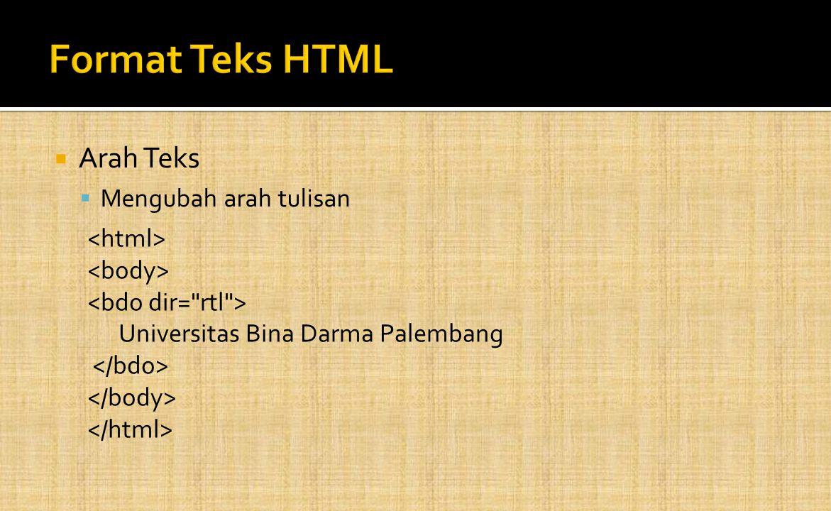  Arah Teks  Mengubah arah tulisan Universitas Bina Darma Palembang
