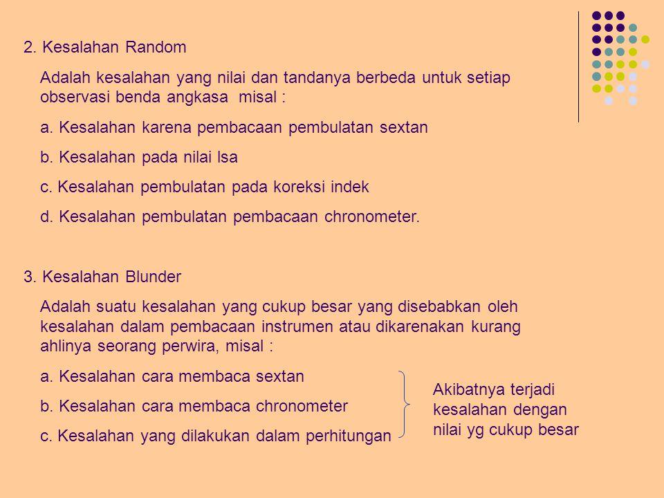 B.Kesalahan Sistematic, Random dan Blunder 1.