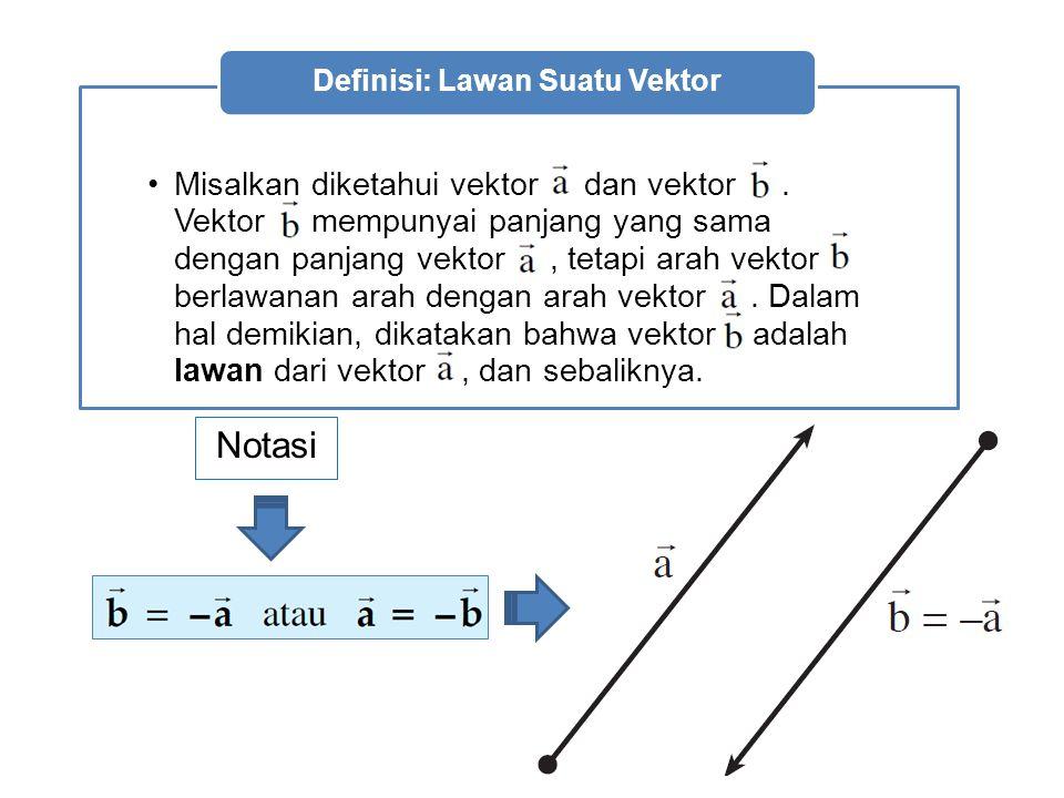 Notasi Misalkan diketahui vektor dan vektor.
