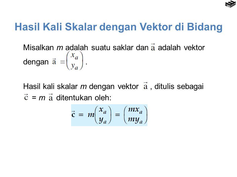 Hasil Kali Skalar dengan Vektor di Bidang Misalkan m adalah suatu saklar dan adalah vektor dengan.