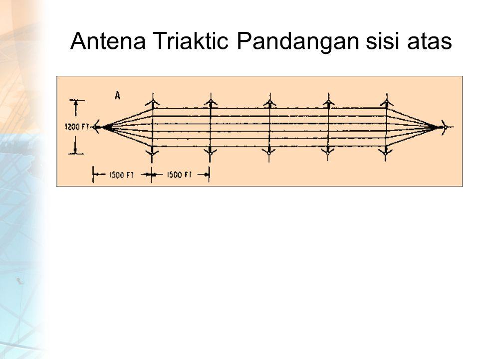 Antena Triaktic Pandangan sisi atas
