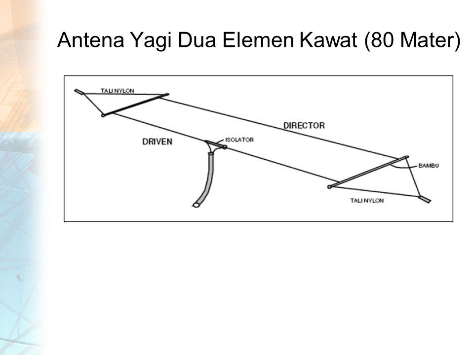 Antena Yagi Dua Elemen Kawat (80 Mater)