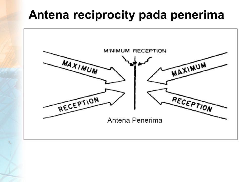 Antena reciprocity pada penerima