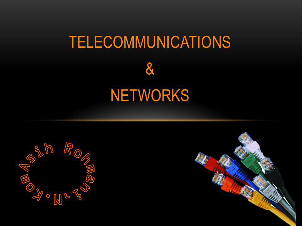 AN OVERVIEW OF TELECOMMUNICATIONS Telekomunikasi mengacu pada transmisi sinyal elektronik seperti telepon, radio & televisi.