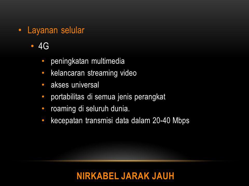 NIRKABEL JARAK JAUH Layanan selular 4G peningkatan multimedia kelancaran streaming video akses universal portabilitas di semua jenis perangkat roaming