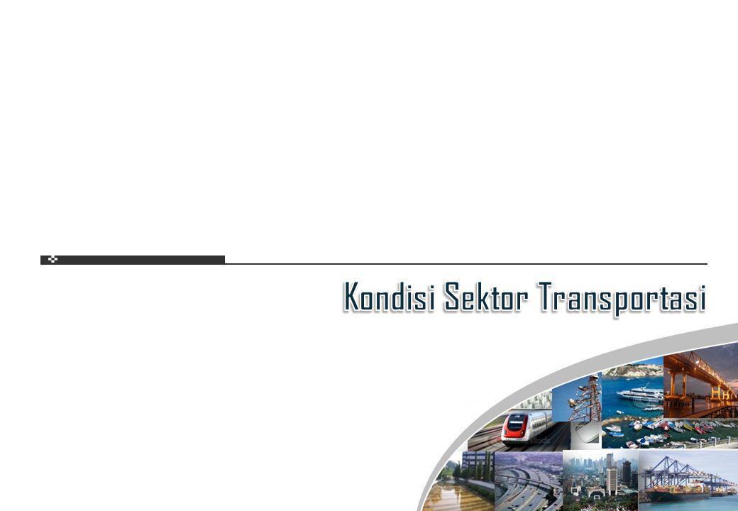 BIDANGPERMASALAHAN Jalan dan KAMinimnya pemeliharaan Tidak adanya ruas/jalur baru Lambatnya pertumbuhan kapasitas jalan strategis (arteri dan jalan tol) Transportasi Laut Minimnya large trading ports Lemahnya armada pelayaran nasional Lambatnya pertumbuhan perintisan Transportasi Udara Perluasan kapasitas bandara, terutama hub luar Jawa Pengintensifan partisipasi swasta Daya Saing Indonesia Dipengaruhi Oleh Kondisi Infrastruktur Transportasi 83 103 82 80 52 55 Daya Saing Kualitas Jalan KA Kualitas Transportasi Udara Infrastruktur Secara Keseluruhan Kualitas Pelabuhan Kualitas Jalan Peringkat Daya Saing Indonesia Rendah Peringkat dari 139 Negara