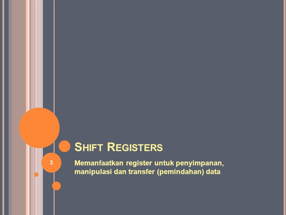MSI S HIFT R EGISTERS 74LS166 is an 8-Bit Shift Register 34