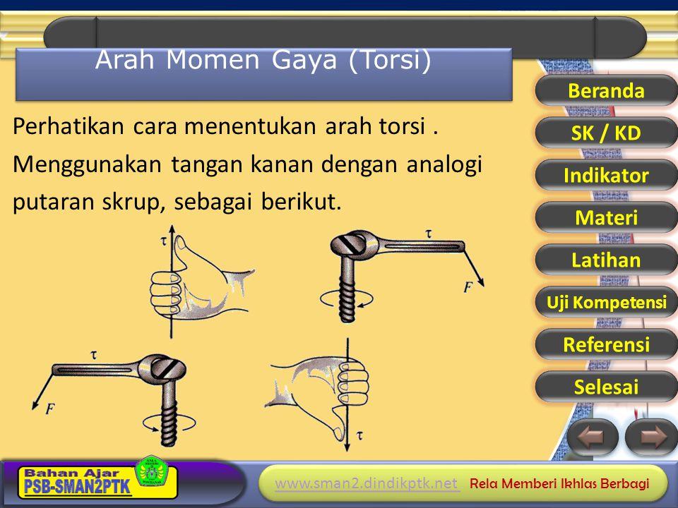 www.sman2.dindikptk.net www.sman2.dindikptk.net Rela Memberi Ikhlas Berbagi www.sman2.dindikptk.net www.sman2.dindikptk.net Rela Memberi Ikhlas Berbagi Gaya F 1, F 2, F 3 dan F 4 bekerja pada batang seperti gambar.