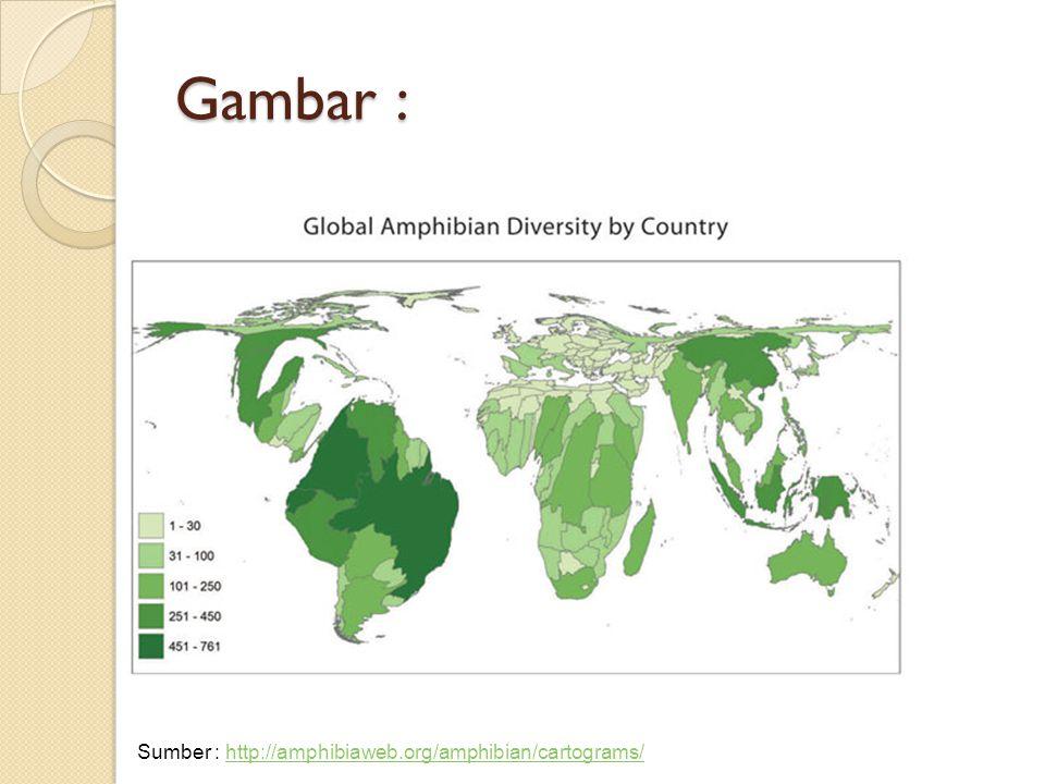 Gambar : Sumber : http://amphibiaweb.org/amphibian/cartograms/http://amphibiaweb.org/amphibian/cartograms/
