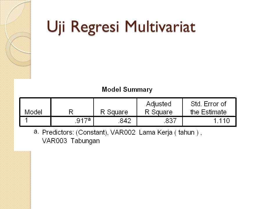 Uji Regresi Multivariat