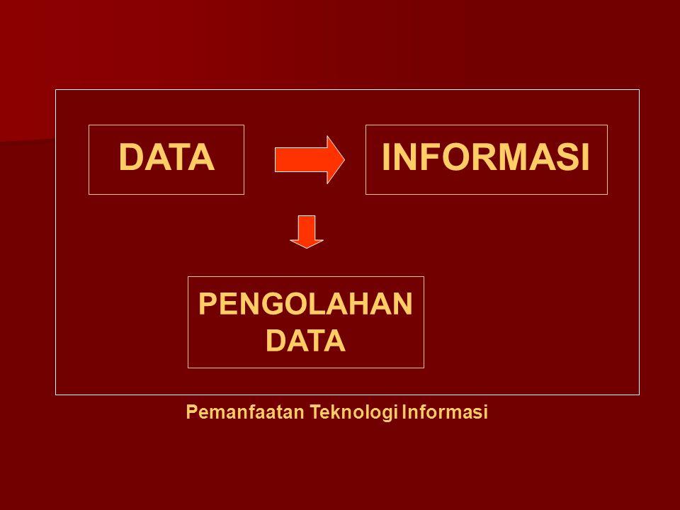 Pemanfaatan Teknologi Informasi DATAINFORMASI PENGOLAHAN DATA