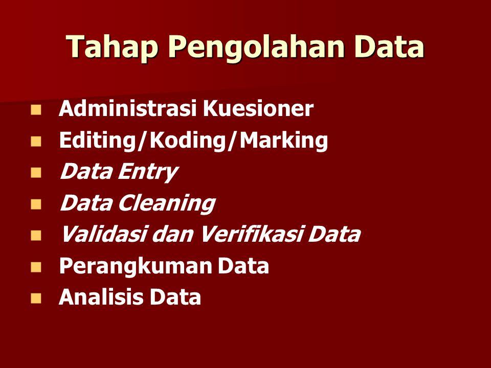 Verifikasi Data BAGAIMANA MEMVERIFIKASI DATA.
