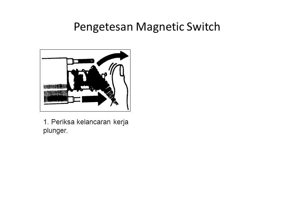 Pengetesan Magnetic Switch 1. Periksa kelancaran kerja plunger.