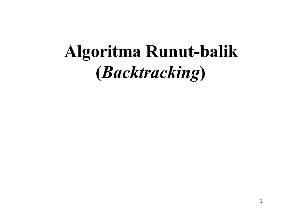 1 Algoritma Runut-balik (Backtracking)