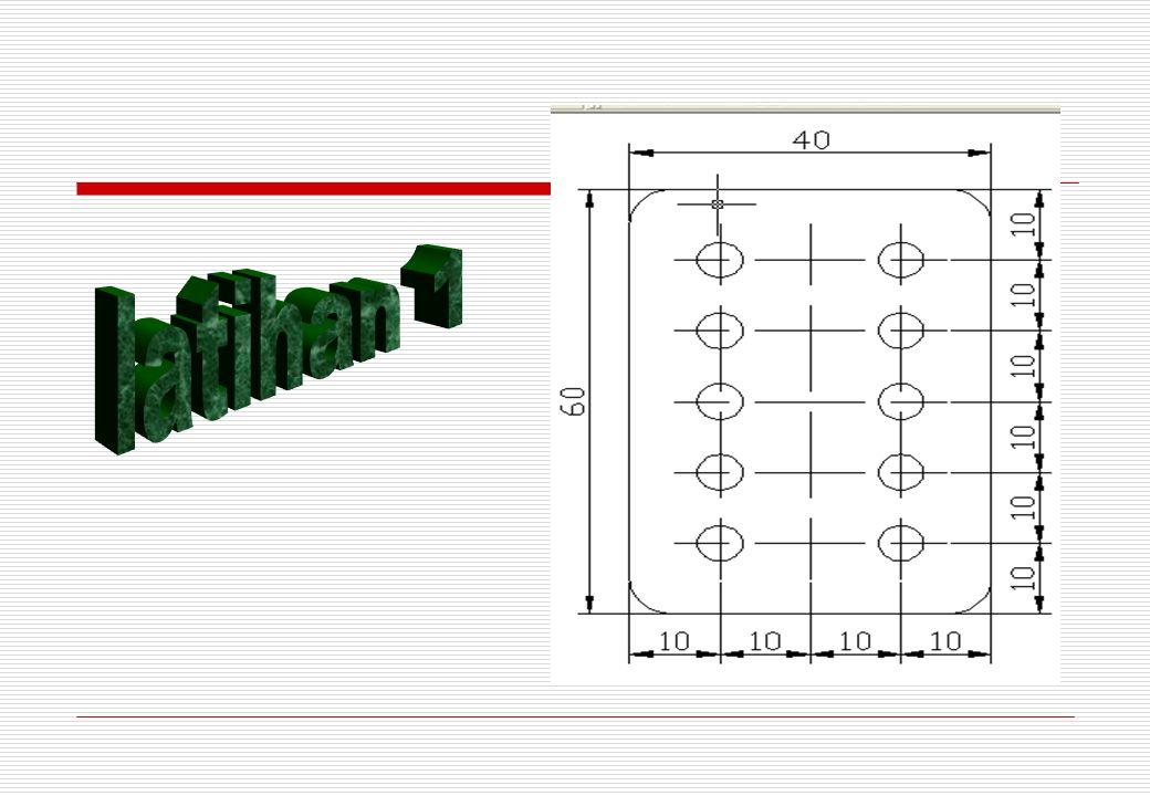 Langkah 4 1.Klik ikon subtract 2.Klik kiri silinder 1,2 dan 3 enter 3.Klik kiri kotak enter Langkah 5 1.Drag semua objek 2.Pilih warna pada by layer di properties