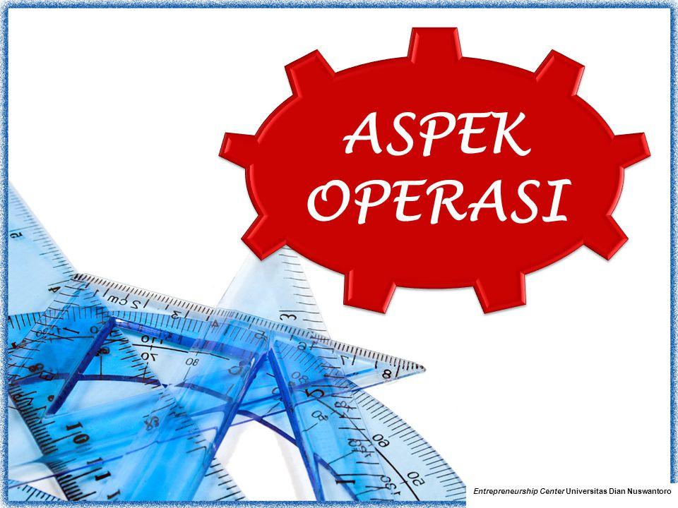 Pembahasan Aspek Operasi Entrepreneurship Center Universitas Dian Nuswantoro 1.