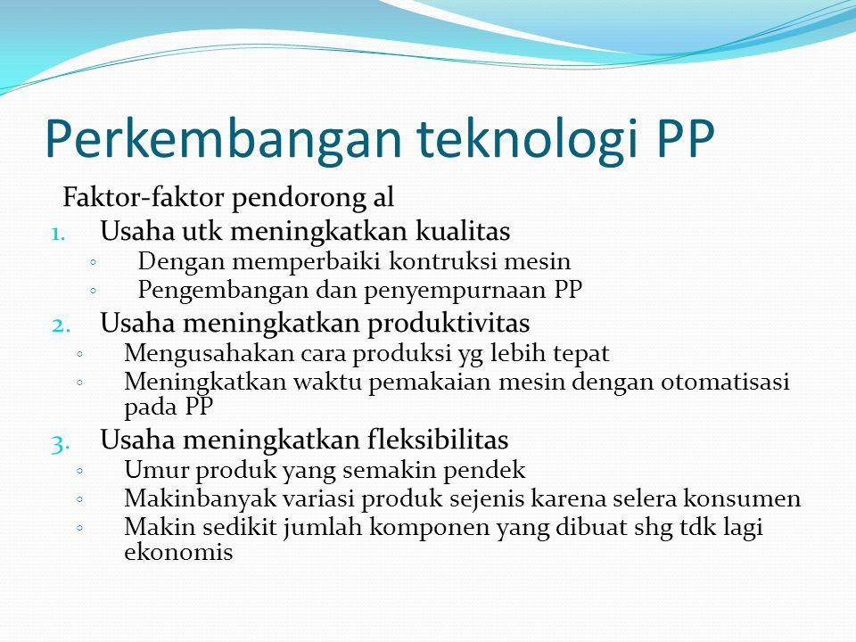 Perkembangan teknologi PP Faktor-faktor pendorong al 1.
