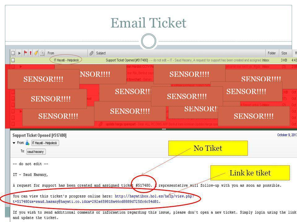 Email Ticket SENSOR!!!! No Tiket Link ke tiket