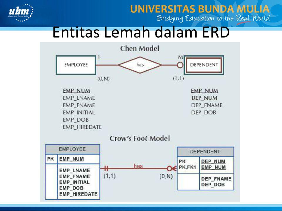 Entitas Lemah dalam ERD