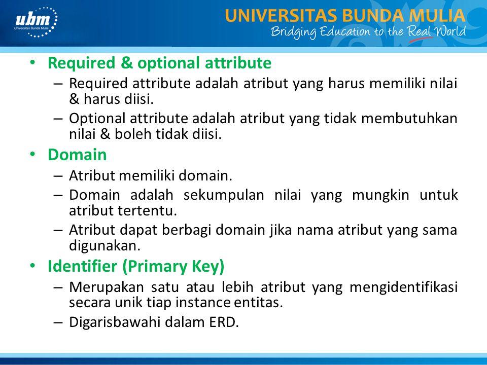 Required & optional attribute – Required attribute adalah atribut yang harus memiliki nilai & harus diisi.