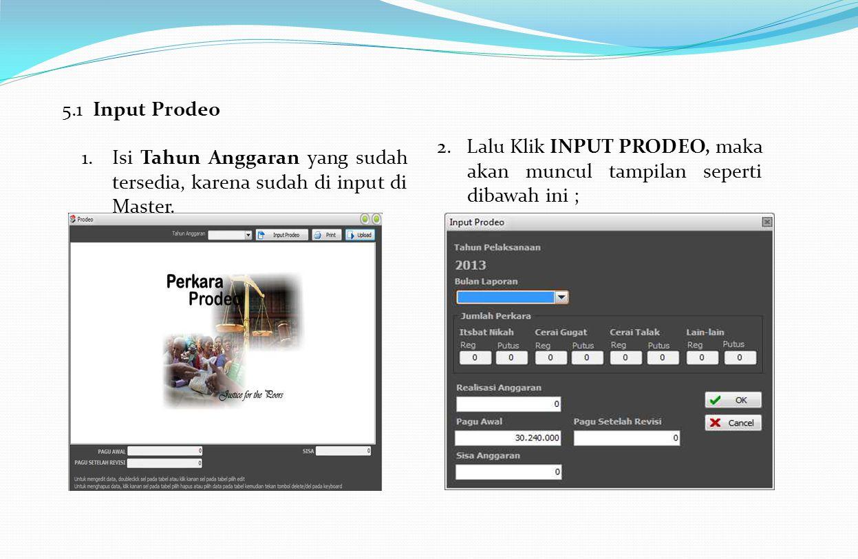 5.1 Input Prodeo 2.