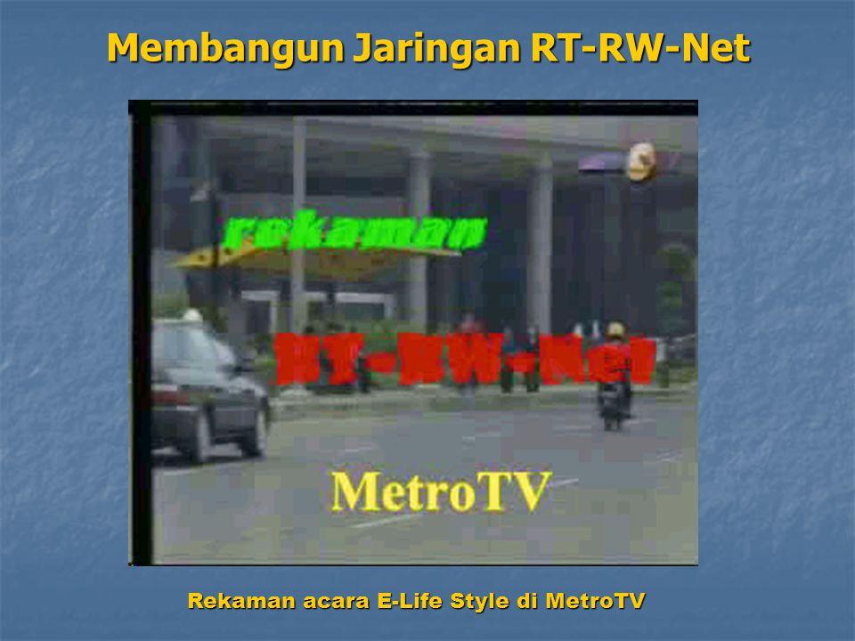 Rekaman acara E-Life Style di MetroTV