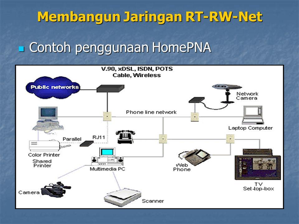 Membangun Jaringan RT-RW-Net Contoh penggunaan HomePNA Contoh penggunaan HomePNA
