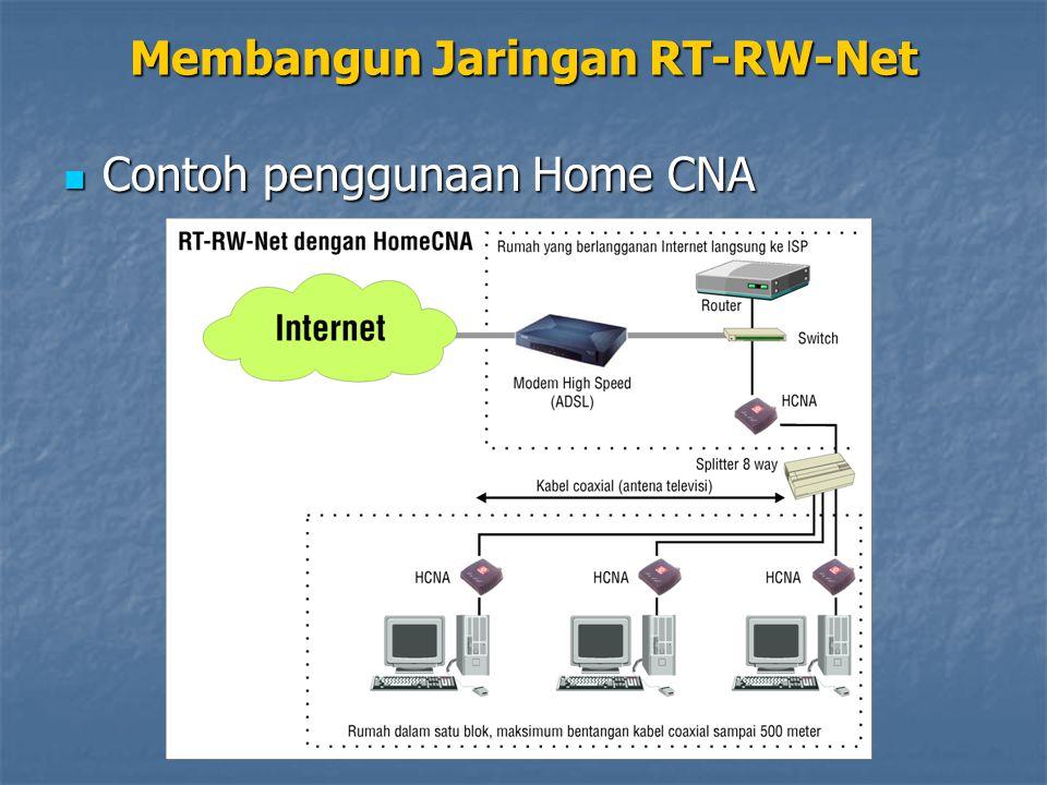 Contoh penggunaan Home CNA Contoh penggunaan Home CNA Membangun Jaringan RT-RW-Net