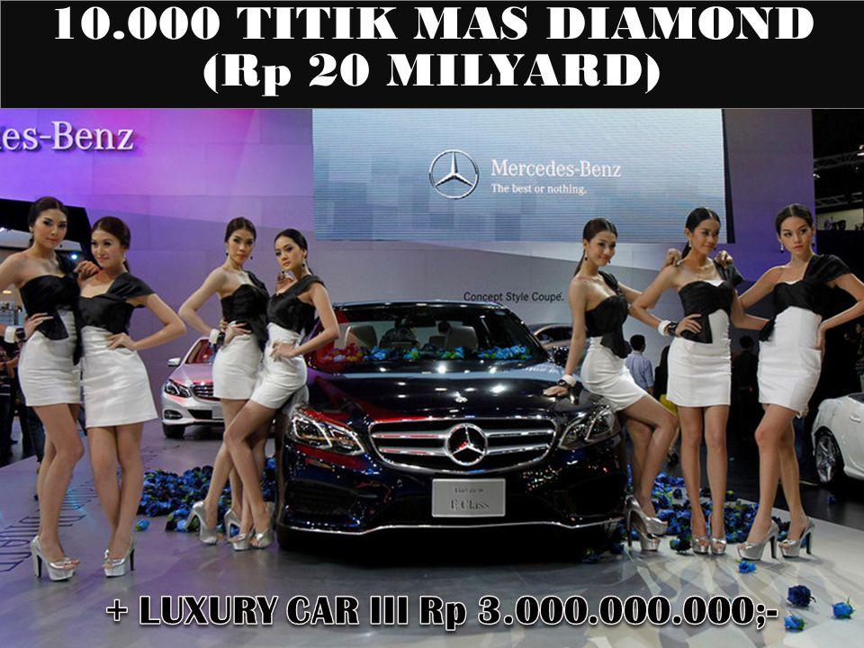 10.000 TITIK MAS DIAMOND (Rp 20 MILYARD)