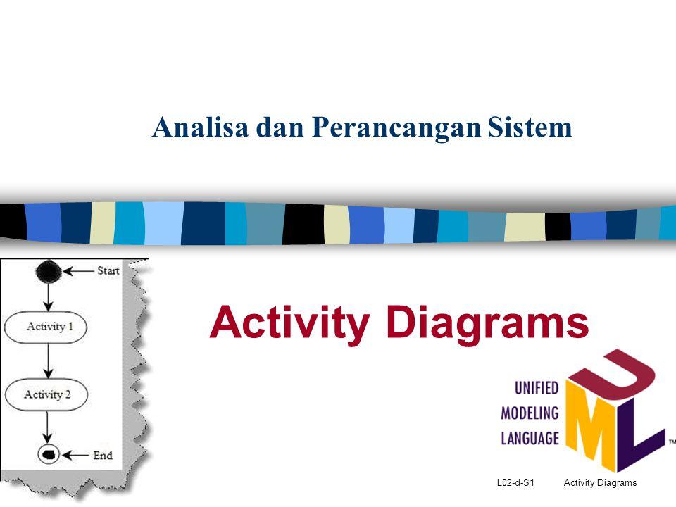 L02-d-S1 Activity Diagrams Analisa dan Perancangan Sistem Activity Diagrams