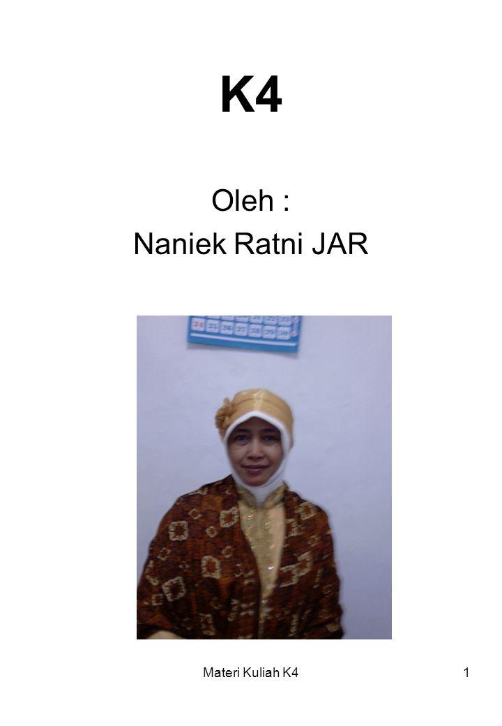 Materi Kuliah K41 K4 Oleh : Naniek Ratni JAR