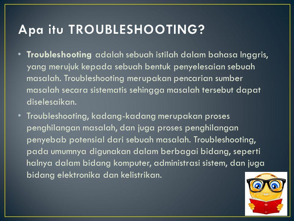 Troubleshooting 1 Printer tidak dapat melakukan percetakan.